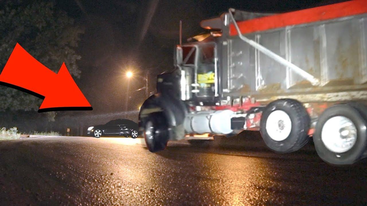 car vs phantom truck (clinton road) THIS WAS A REALLY BAD IDEA