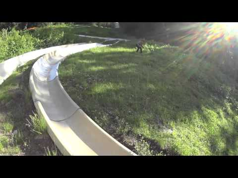 Insane Alpine Slide Crash