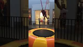 Collab bitchmp  baby happily jumping trampoline
