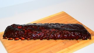 BBQ Baby Back Ribs On The Weber Kettle Grill - BBQ Pork Ribs Recipe