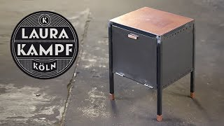 Steel and Copper Side Table