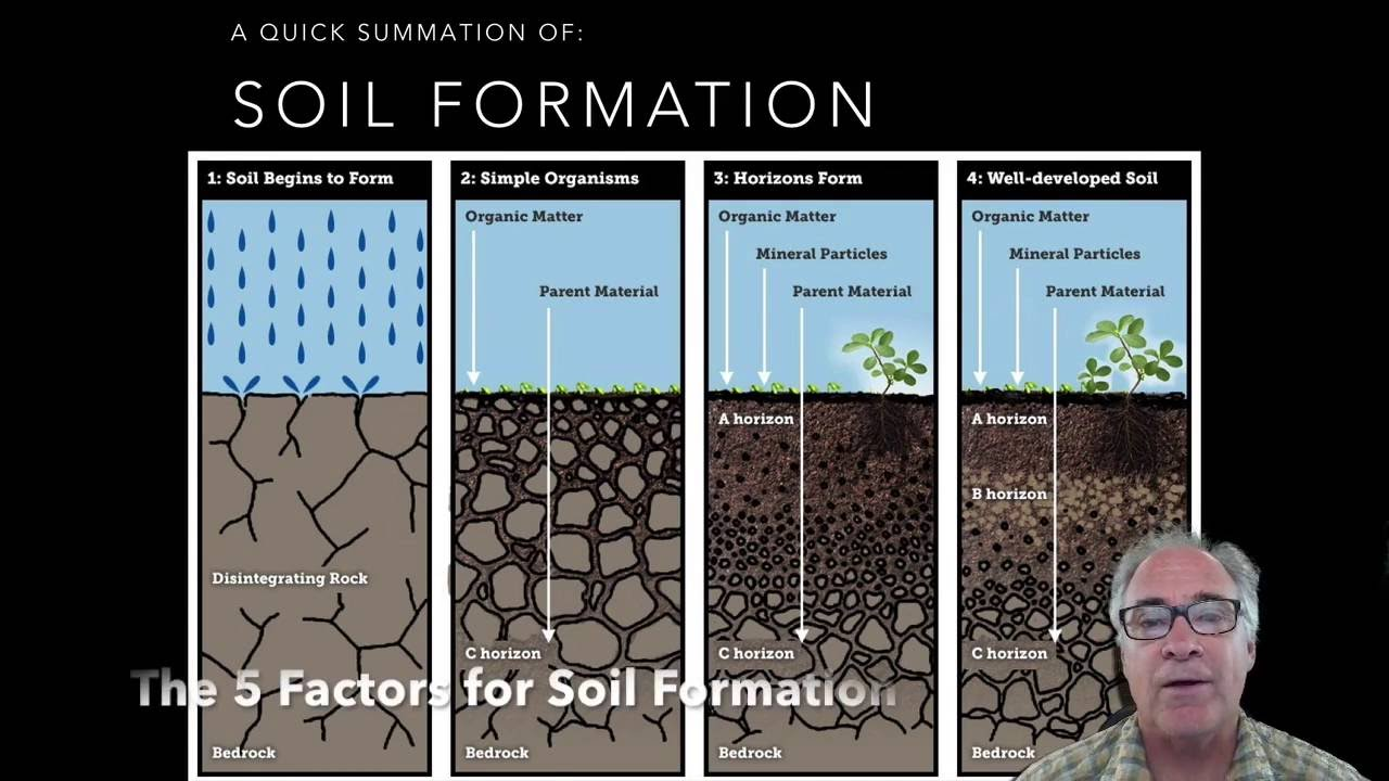 Soil formation 5 soil factors part 1 youtube for 4 parts of soil