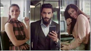 Alia Bhatt, Ranveer Singh & Diana Penty Funny Ad   So cute & Lovely funny Ad   Alia Ads   MMT ads