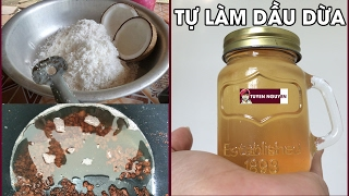DIY Cách làm dầu dừa tại nhà bằng nồi cơm điện cực đơn giản | How to make coconut oil at home easily