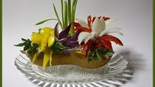 Украшение из овощей для праздничного стола