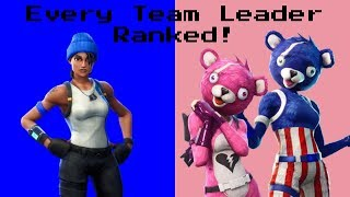 Ranking *EVERY TEAM LEADER SKIN* In Fortnite Battle Royale!