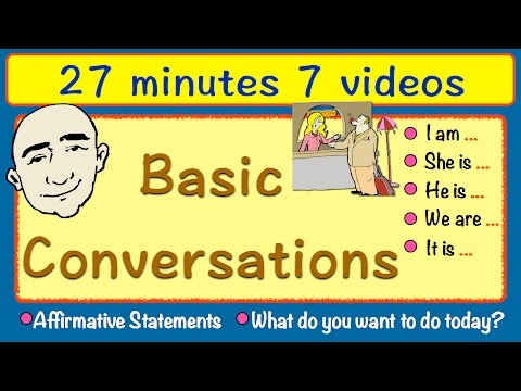 Basic Conversations | Long Video | 27 Minutes | English Speaking Practice | ESL | EFL