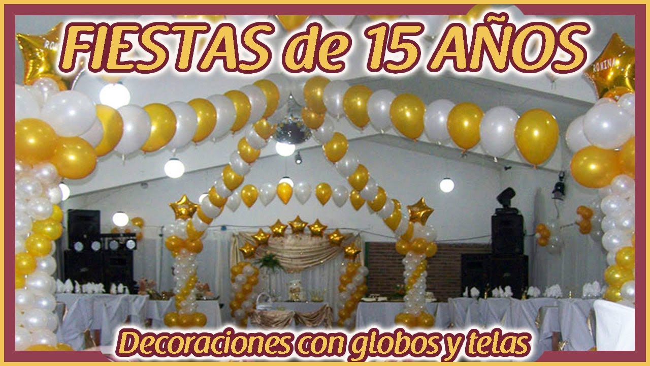 Decoraciones de cumplea os de 15 youtube for Decoracion de puertas para cumpleanos