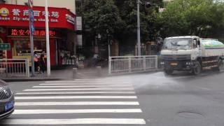 道路掃除の散水@China thumbnail
