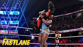 Big E decimates Shinsuke Nakamura with repeated belly-to-belly suplexes: WWE Fastlane 2019 Kickoff