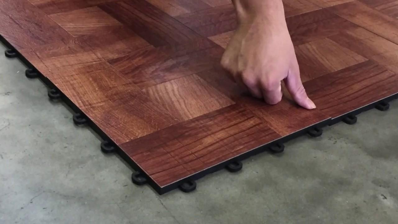 basement vinyl tile interlocking
