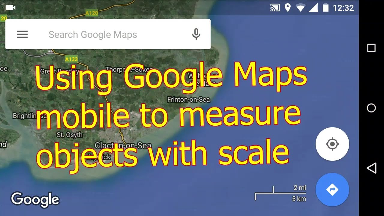 how to get a scale on google maps