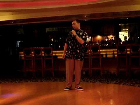 Wade karaoke on Yangtze River Cruise