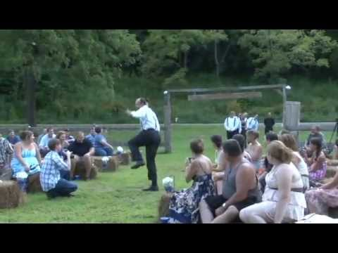 SUPER FUNNY WEDDING ENTRANCE DANCE AT COUNTRY WEDDING