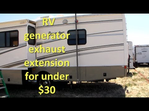 Rv Generator Exhaust Extension For Under 30 Youtube
