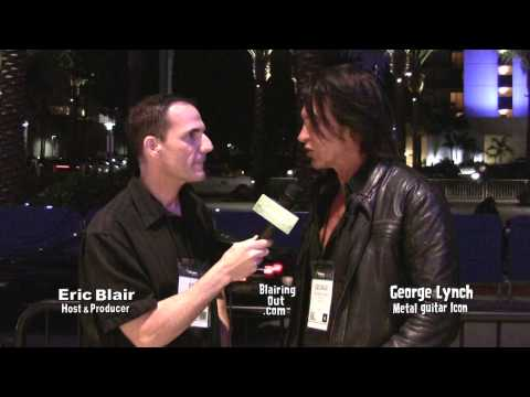 George Lynch talks w Eric Blair about Michael Sweet and Atheism @ Namm 2014