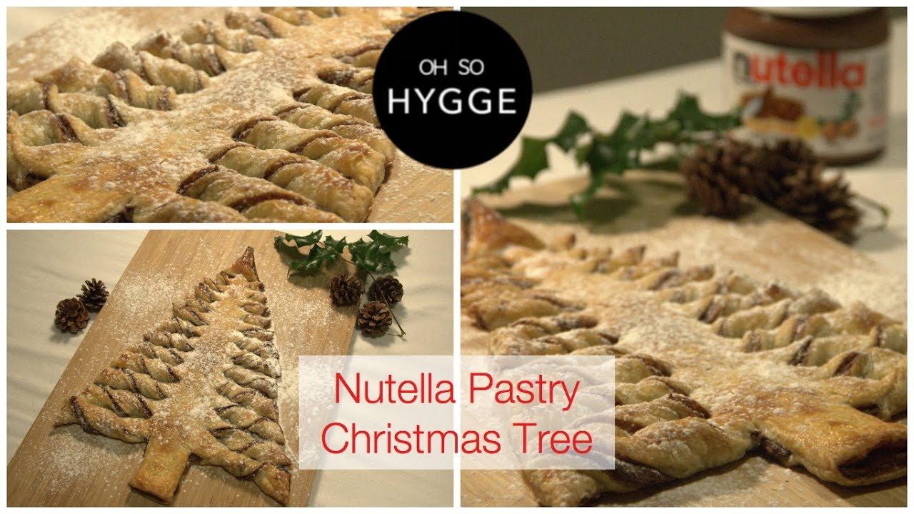 Nutella Pastry Christmas Tree Tutorial - Oh So Hygge - YouTube