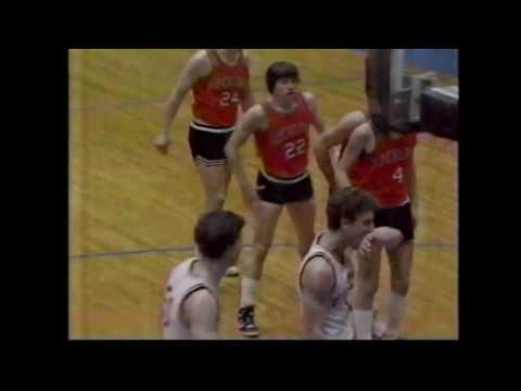 Rockland vs Dexter - 5 overtimes - 1986 Eastern Maine Class B Boys Final (full game)