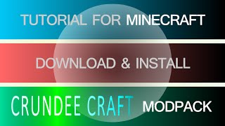 CRUNDEE CRAFT MODPACK 1.7.10 minecraft - how to download and install