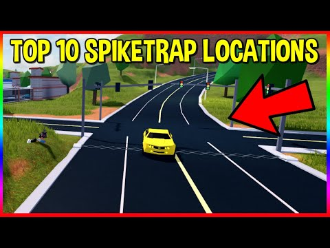 TOP 10 SPIKE TRAP LOCATIONS! ROBLOX JAILBREAK