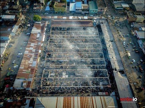 Koronadal Philippines Public Market goes on fire.
