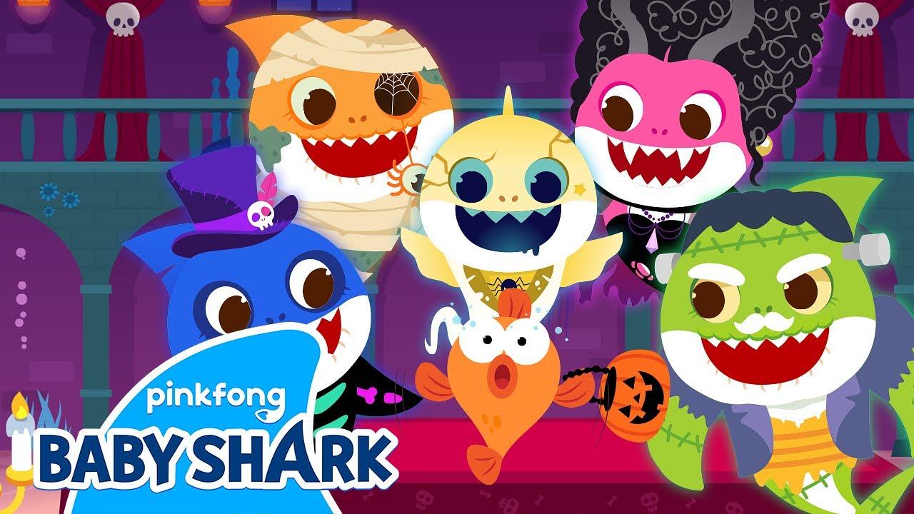 Ghost Baby Shark's Haunted House! | Baby Shark Halloween | Halloween Songs 1+1 | Baby Shark Official
