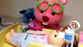 루피 선생님 콩순이가 아파요~콩순이 119 앰블런스 의사 병원 놀이 Ambulance Doctor Kit Play Doll Toys おもちゃ 라임튜브