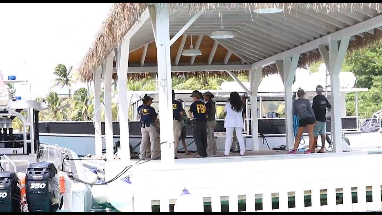 Watch FBI, officers raid Jeffrey Epstein's island estate
