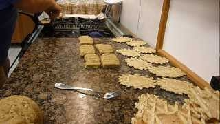 Making Authentic Italian Pizzelle On An Antique Cast Iron Pizzelle Iron