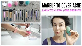 CURRENT MAKEUP ROUTINE + HOW TO CLEAN MAKEUP BRUSHES   AmandaMuse