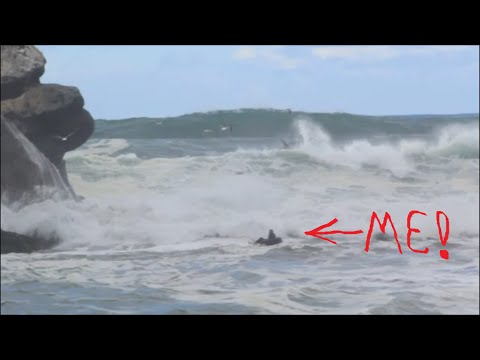Riding Massive Waves in an Inner Tube With Jonesey - First Responders Brought me in After 911 Call