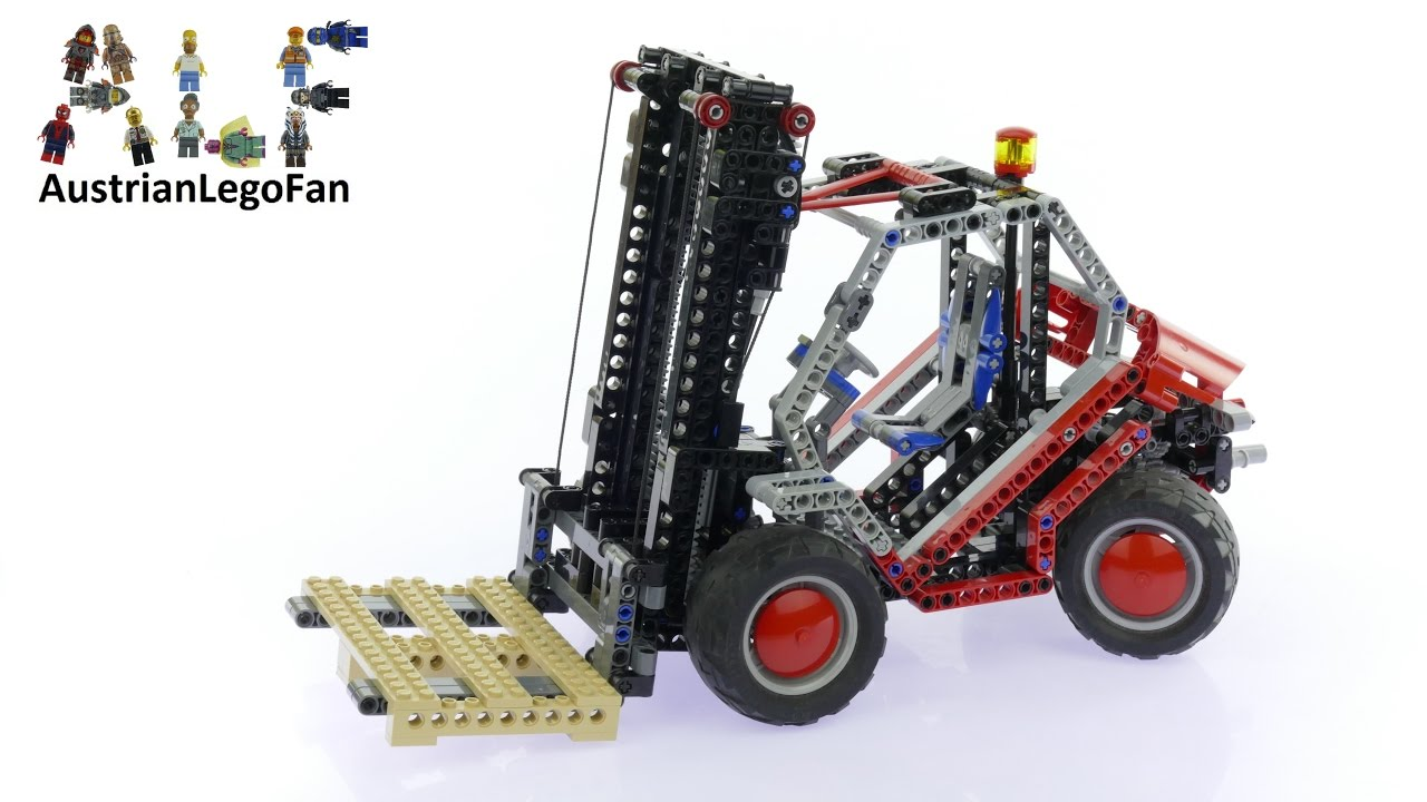 Lego Technic 8416 Forklift Lego Speed Build Review Youtube