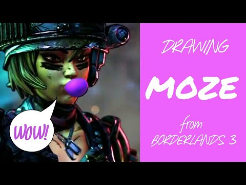 HOW TO DRAW MOZE | BORDERLANDS 3