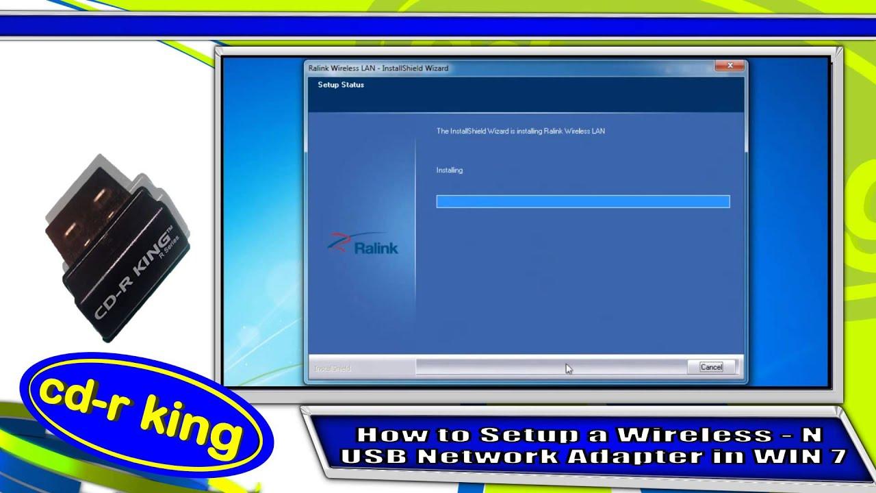 WIRELESS-N USB NETWORK ADAPTER IN WINDOWS 7 INSTALLATION (WU-NETA-002-R)