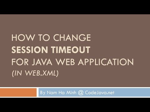 How to set Session Timeout for Java web application