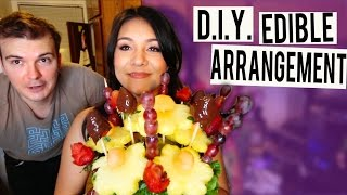 D.I.Y. EDIBLE ARRANGEMENT FOR MOTHER'S DAY! - #TastyTuesday