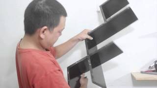 Cách lắp kệ trang trí treo tường