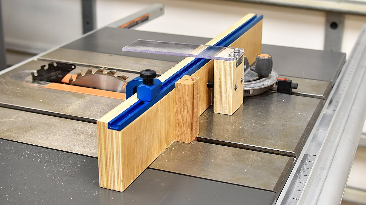 How To Make A Crosscut Jig For Your Table Saw Youtube