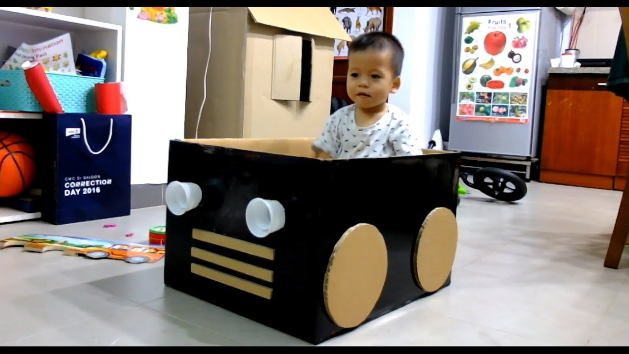 Cardboard Box Car For Kids Youtube