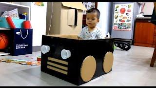 Cardboard Box Car for Kids