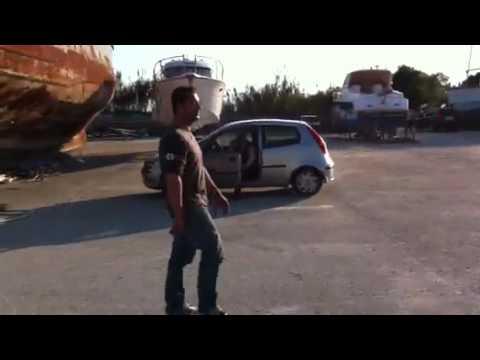 Traino yacht con defender roccella
