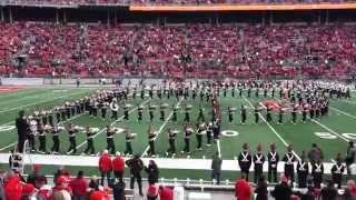 OSUMB Entire Pregame Show with Brothers Max & Alex Roy leading out Script Ohio OSU vs IU 11 22 2014