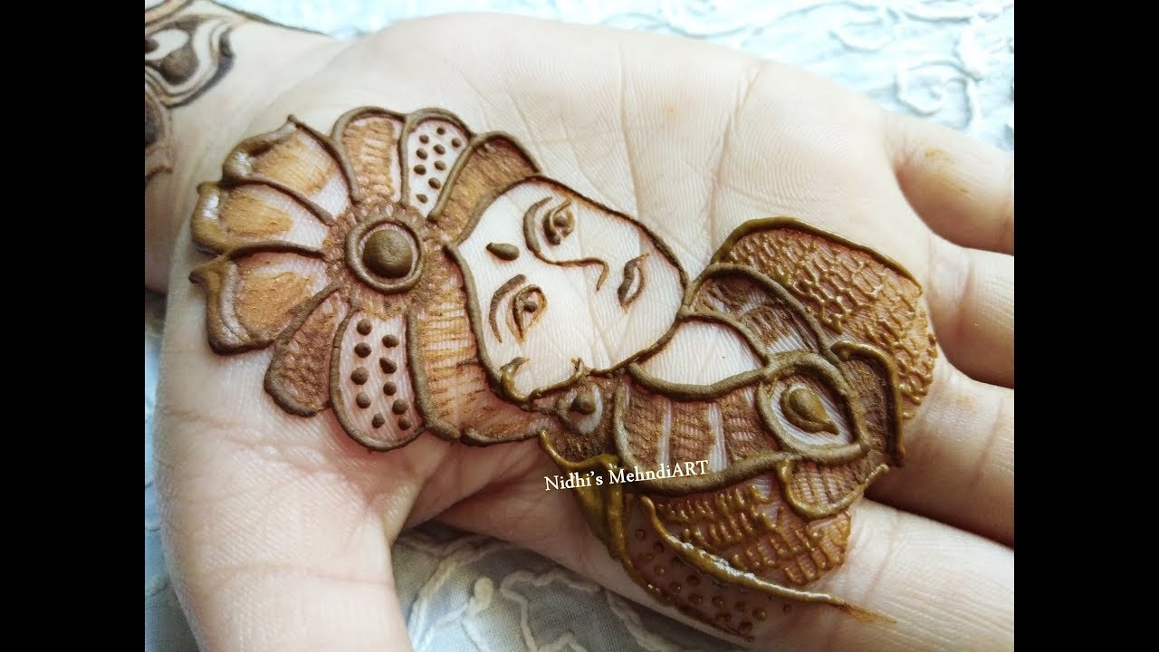 Hand Mehndi Tips : How to draw groom face in full hand bridal mehndi design tips for