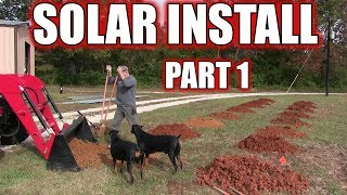 We're going solar - Ground mount install - Part 1