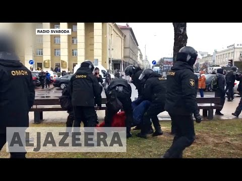Hundreds detained after defying Belarus protest ban