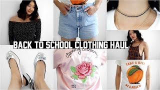 BACK TO SCHOOL TRY-ON CLOTHING HAUL 2016!