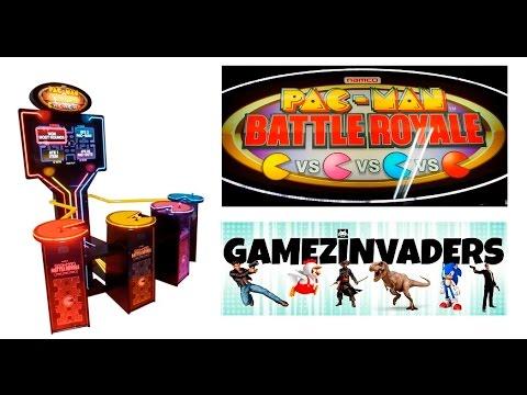 Namco's PAC-MAN Battle Royal!! Four Player Pac Man Arcade Coin Op!