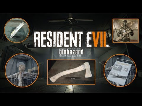 Resident Evil 7 - ALL STEROIDS & STABILIZERS + ALL REPAIR KITS & BROKEN WEAPONS
