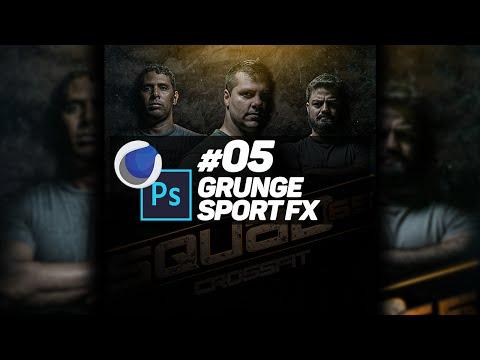 #05 Cinema 4D & Photoshop: Grunge Sport FX