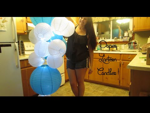 Diy Paper Lantern Chandelier With Lights Our Lives Reasons Sanity